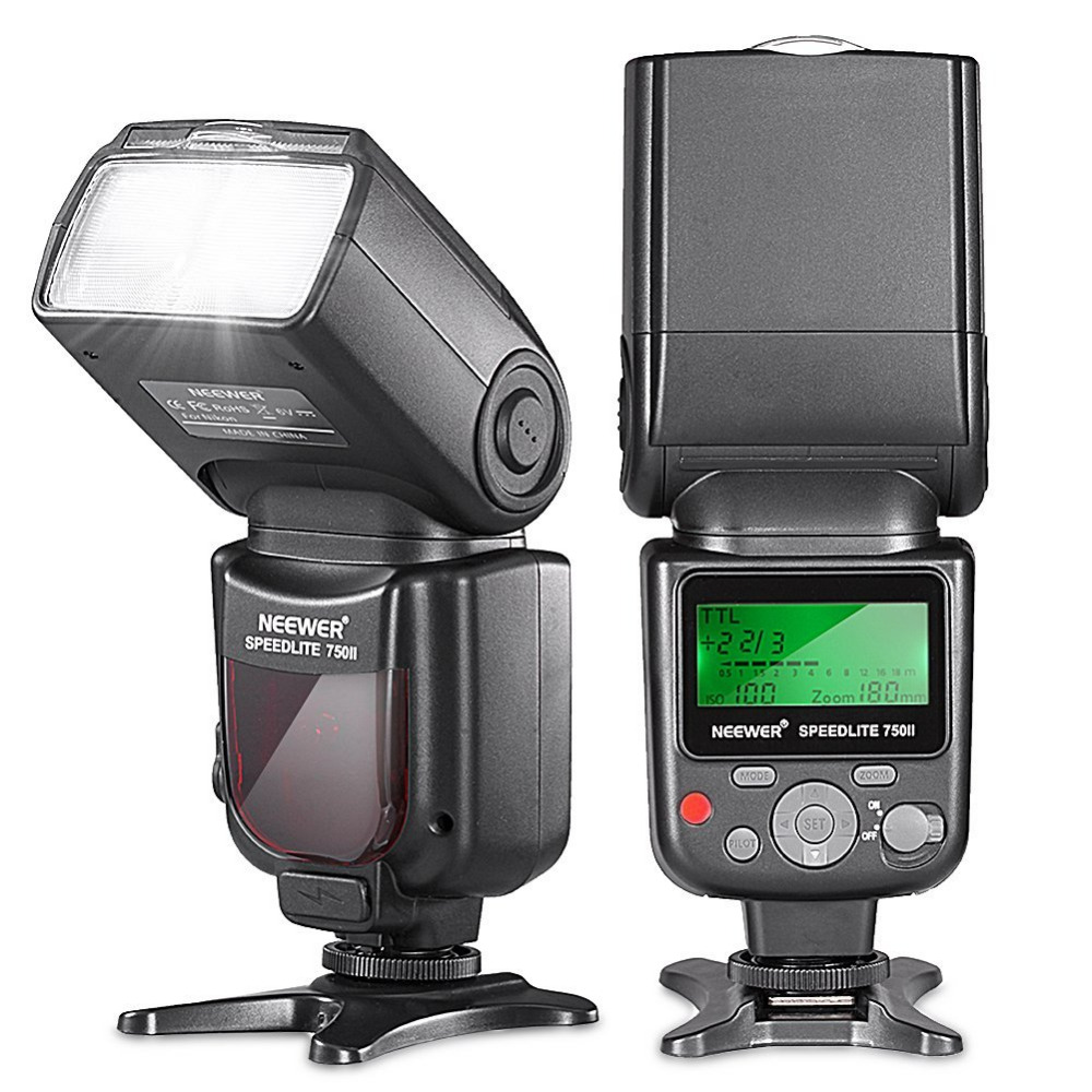 Neewer 750II TTL Flash Speedlite with LCD Display for Nikon D5000 D3000 D3100 D3200 P7100 D7000 D700 Series and Other Nikon DSLR d7000 rear back cover shell with lcd button fpc for nikon d7000 for nikon