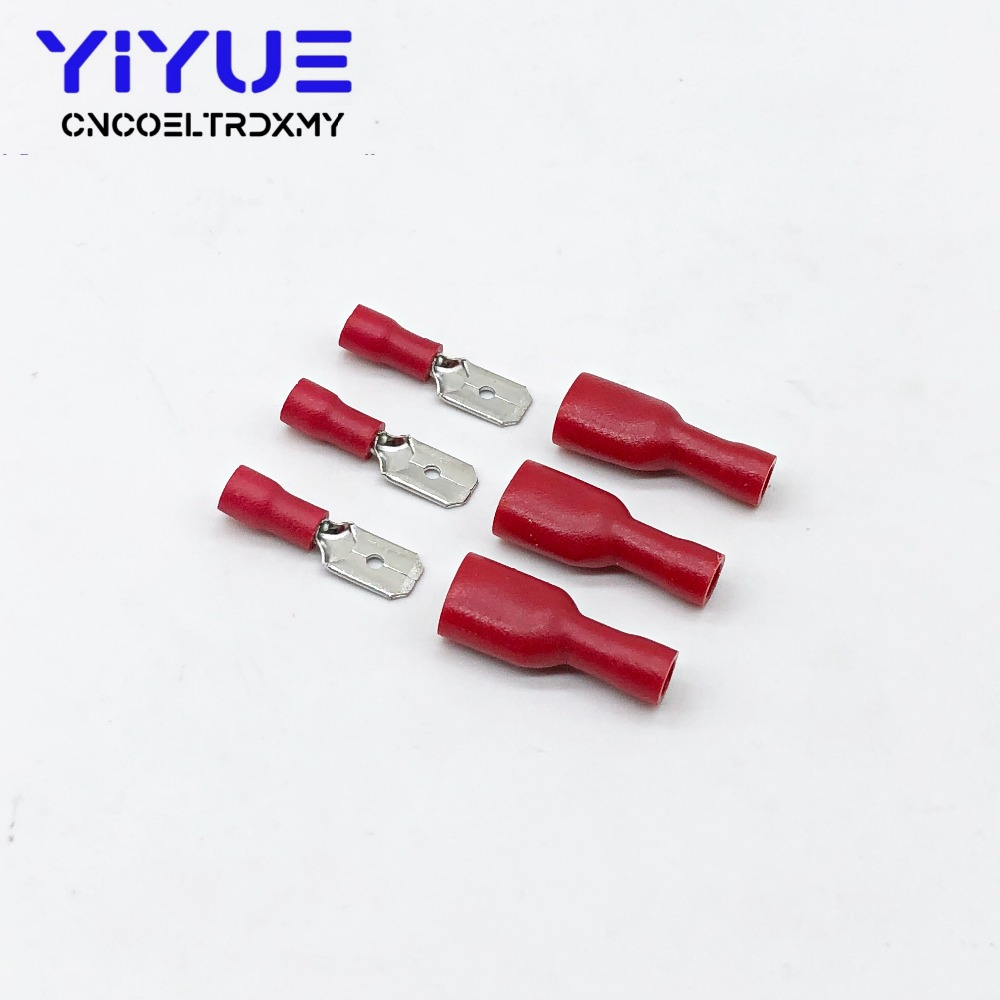 6.3mm 22-16AWG Female Male Electrical Wiring Connector Insulated Crimp Terminal (2)