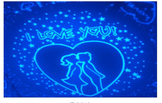 Battery Powered Rotation Starry Star Moon Sky Romantic Projector LED Night Light Lamp (Random Color)
