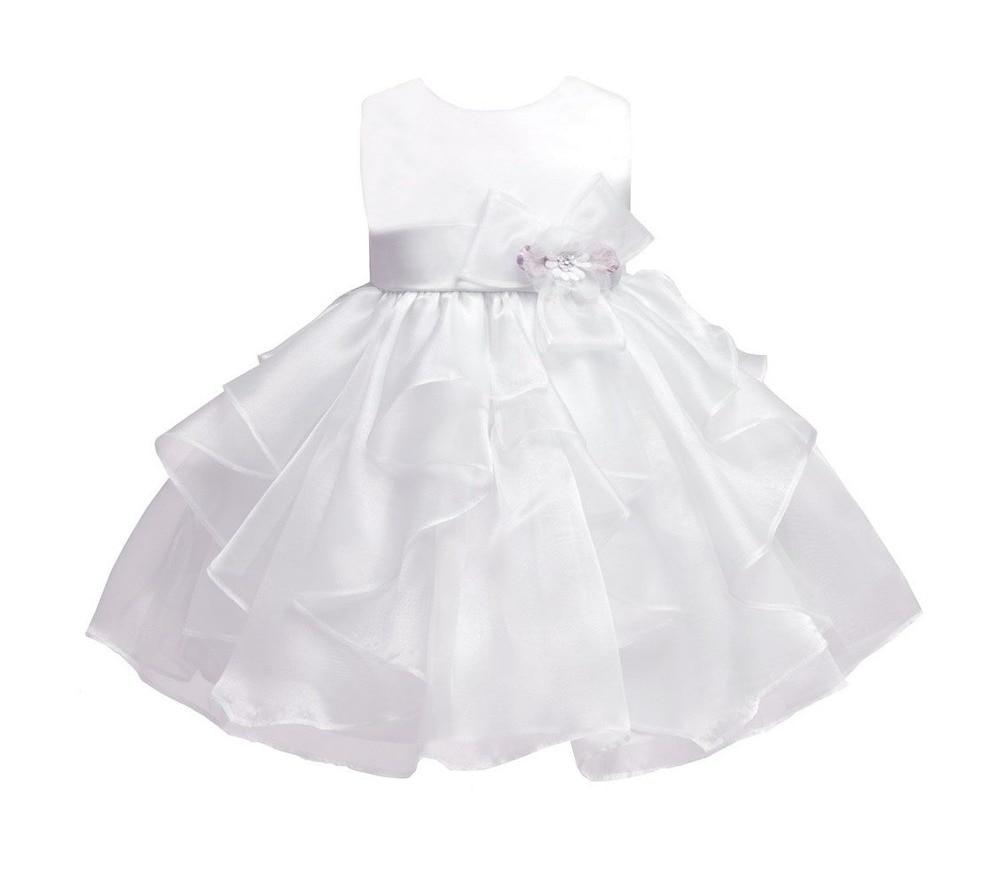 4257f96af Hola bebé blanco   de marfil del Vestido para bebés recién nacidos bautismo