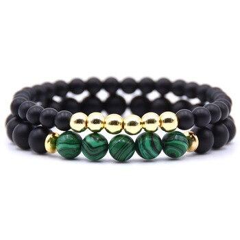 Bracelet couple longue distance vert