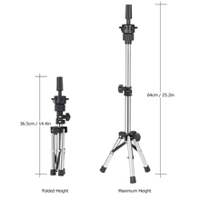 Adjustable Mannequin Head Tripod Stand Salon Hair Hairdressing Training Display Stand Holder Dummy Wig Head Tools Accessories