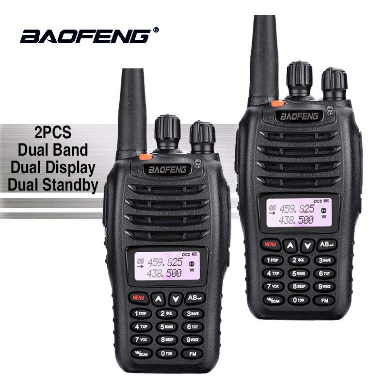 2 pcs Baofeng UV-B5 Talkie Walkie Équipement de La Police Professionnel Double Bande PTT UV B5 Mobile Radio Hf Jambon Émetteur-Récepteur Radio UVB5