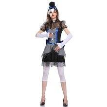 Смешные костюмы на Хэллоуин костюм клоуна ужасов вампир, призрак, невеста для женщин Хэллоуин вечерние косплей Дьявол