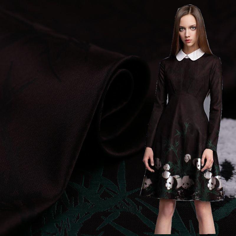 Panda Chelsea stéréo peluche Jacquard vêtement tissus Cheongsam robes tissus large Jute tissus livraison gratuite