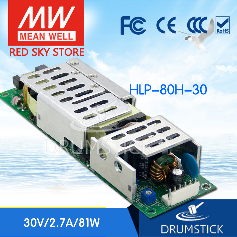 цена на MEAN WELL HLP-80H-30 30V 2.7A meanwell HLP-80H 30V 81W Single Output LED Driver Power Supply