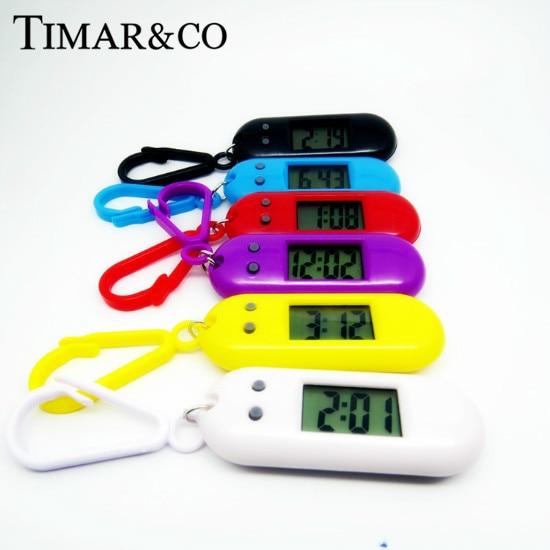 2019 LED Key Ring Watch Sport Digital Watch Clock Waterproof Watch Kids Women Men Rubber Wristwatch Gift Relogio Feminino