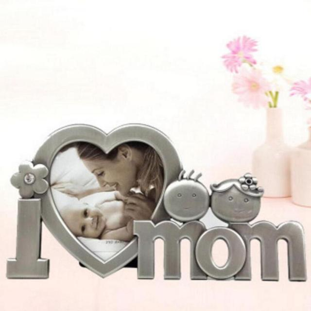 I Love Mom Metal Picture Photo Frame Photo Frame Desktop Picture