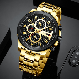 Image 2 - New Luxury Brand CURREN Quartz Watches Sporty Men Wristwatch with Stainless Steel Clock Male Casual Chronograph Watch Relojes