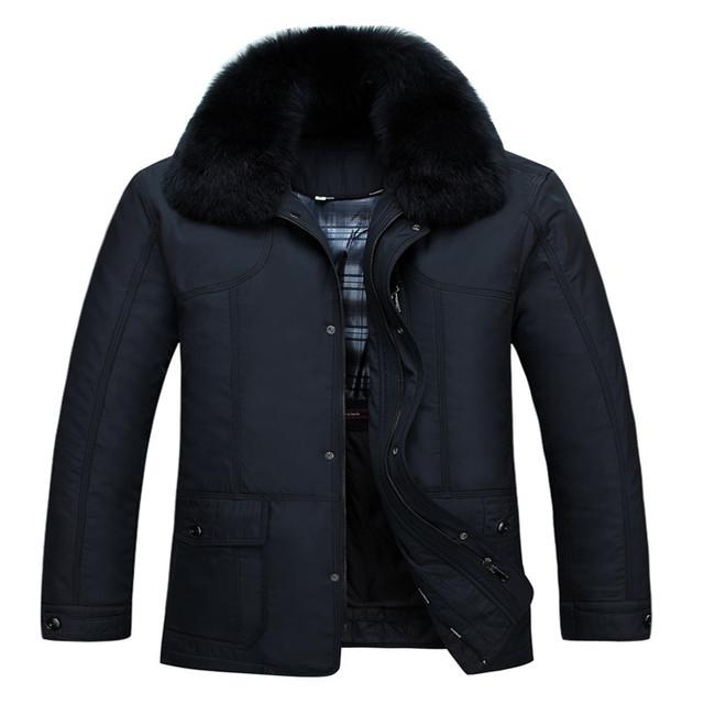 90% Por los hombres Chaqueta Espesar Cálido abrigo de Invierno Capa de Nieve A Prueba de Viento masculina Chaqueta larga desmontable Informal XXXL marca de Ropa