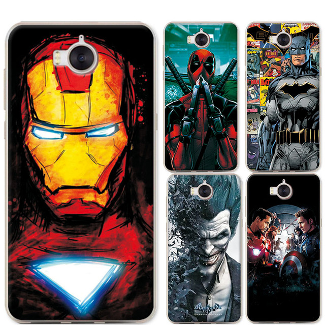 uk availability 97a68 8eb05 For Huawei Y6 2017 Y 6 2017 Phone Case Coque Charming Avengers Iron Man  Covers Fundas For Y6 2017 5.0 inch Soft Silicone Cover