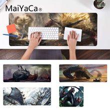 Maiyaca коврик для мыши на заказ, кожаный коврик для мыши с монстрами, охотниками, крестом, наргакугой, игровой коврик для геймеров, прочный резиновый коврик для мыши