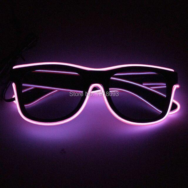2017 Novo Estilo de Moda Óculos De Sol Rosa EL Fio de Iluminação Novidade  LEVOU Neon 95764cd340