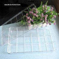 Wholesale 18 Lattices Nail Art Rhinestone Plastic Box Case