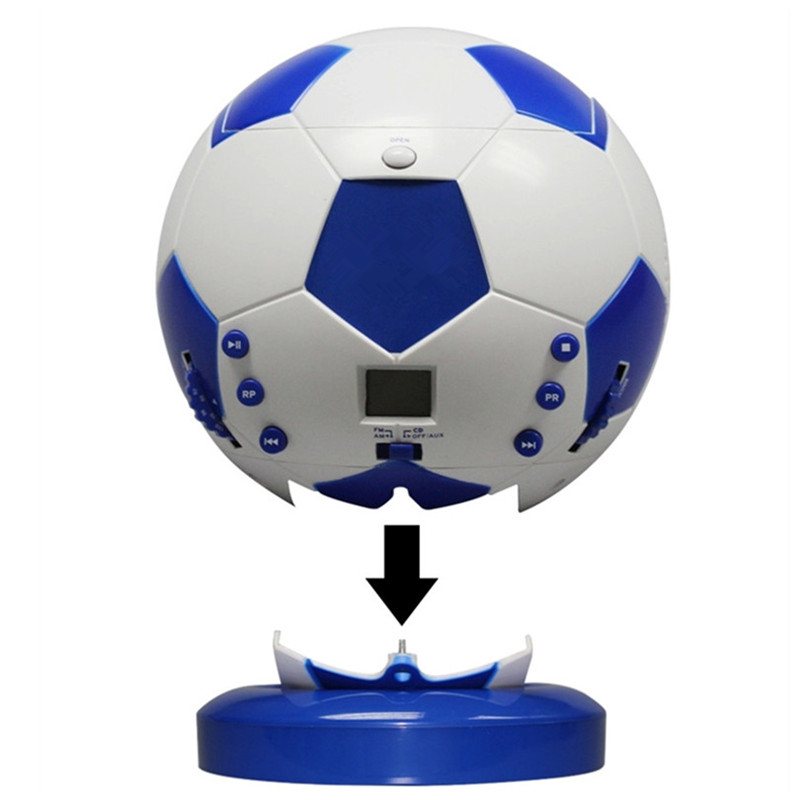 2017 new Soccer CD player World Cup Machine AM/FM Radio prenatal machine Hi-Fi Music Display cd Players Speaker 3.5mm stereo image