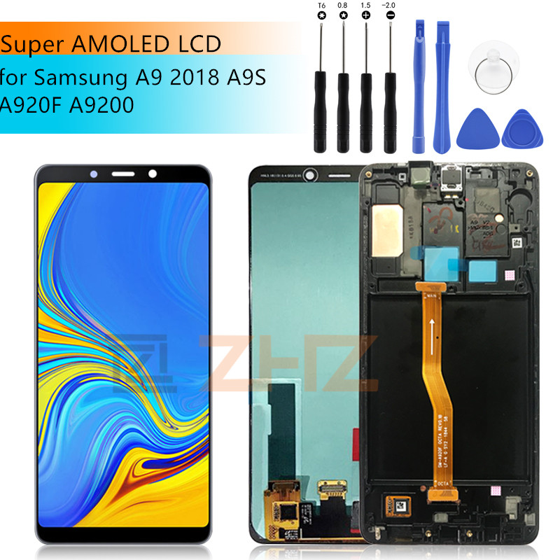 For SAMSUNG GALAXY A9 LCD 2018 Touch Screen Digitizer Assembly for Samsung a9 A9200 A9s A9 Star Pro a920f  Replacement +frame-in Mobile Phone LCD Screens from Cellphones & Telecommunications    1