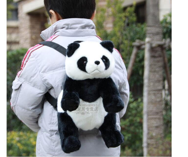 Cute Panda Plush backpacks Stuffed animals toys kids school kindergarden bag Great Companion birthday gift рюкзаки zipit рюкзак shell backpacks