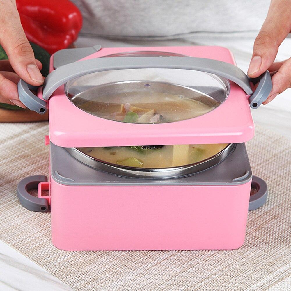 (Uitverkoop) Draagbare lunchbox Dubbellaags warm water verwarming - Keuken, eetkamer en bar