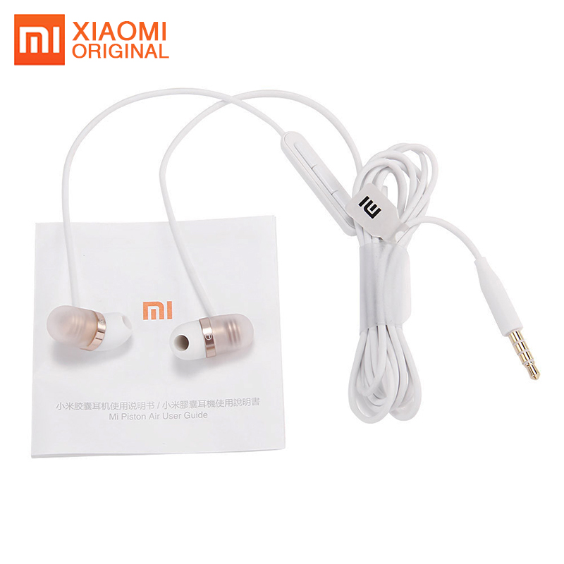 Original Xiaomi Capsule Earphone Mi Earphones Auriculares Ecouteur Wired Universal Cell Phone Headset with Microphone Ear Phones remax rm502 wired clear stereo earphones with hd microphone angle in ear earphone noise isolating earhuds for mp3 iphone xiaomi