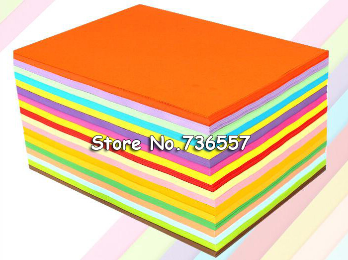Multicolour Heavy Copy Paper A4 80g Thin Cardboard Art Paper 100 Sheets MIX Color