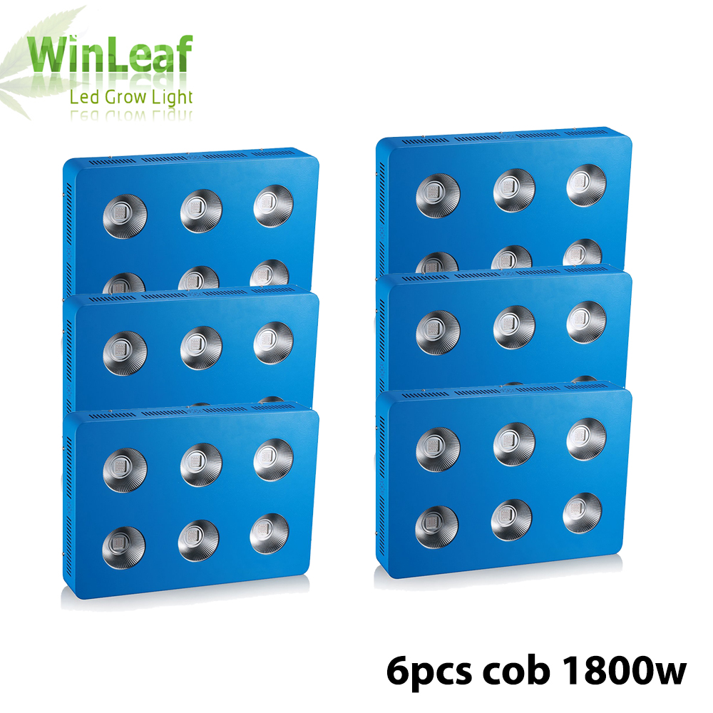 6pcs Full Spectrum COB LED Grow Light for Indoor Plant Vegetative Flowering 1800W plant led grow light COB for hydroponics 200w 1715red 294blue high power led grow light for medical flower plant and indoor hydroponics vegetative full spectrum grow box