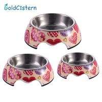 Stainless Steel Dog Feeders Pet Feeding Bowl Multiple Sizes Cat Food Water Bowl Water Food Dish