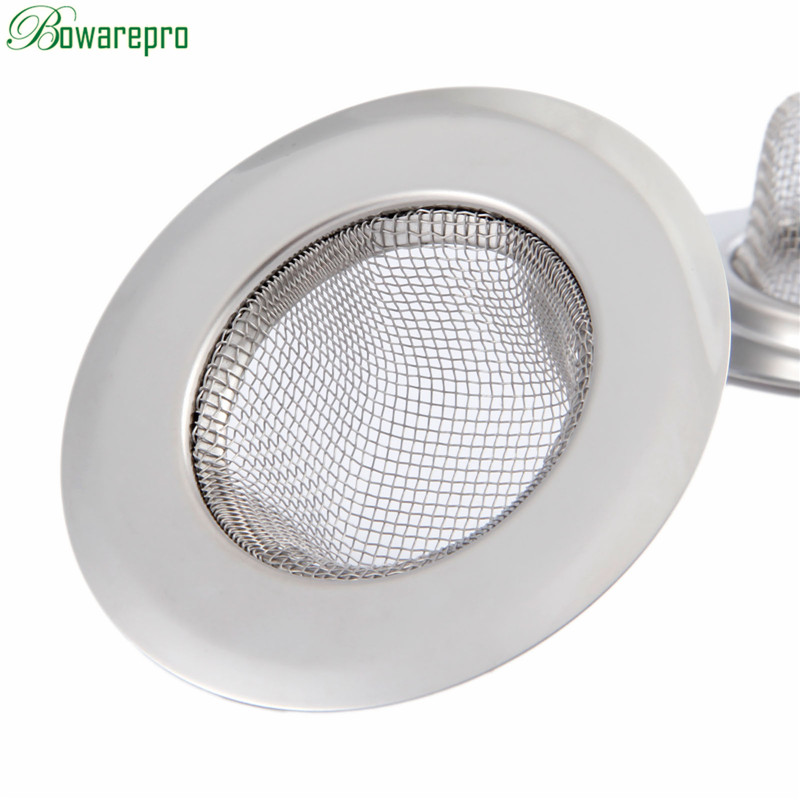 Bowarepro 11/9/7cm  Shower Steel Bath Her Catcher Stopper Shower Drain Hole Filter Trap Metal Sink Strainer Bathroom Plug Filter