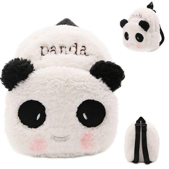 2018 Hot Sale White Panda Soft Stuffed Plush Toys Schoolbag Panda Backpacks  Good Quality Cartoon Kindergarten 43658f6919cdb