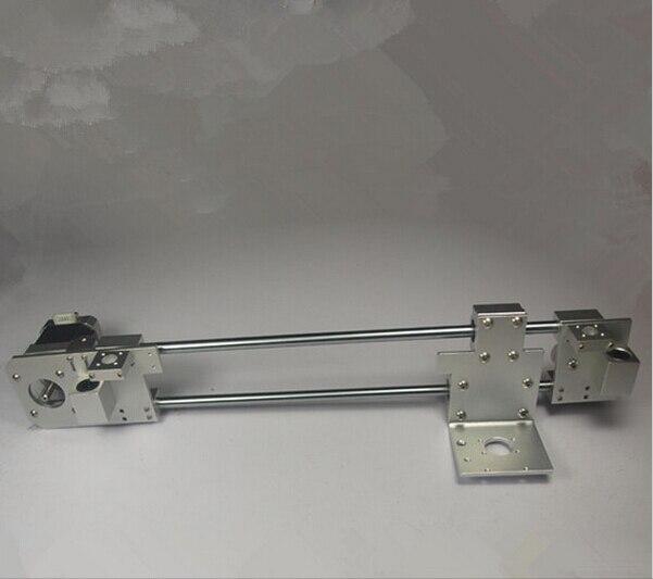 Mise à niveau des pièces d'imprimante Prusa i3 3d en alliage d'aluminium tout métal X chariot + X tendeur d'extrémité + X kit de maintien du moteur d'extrémité (sans moteur)