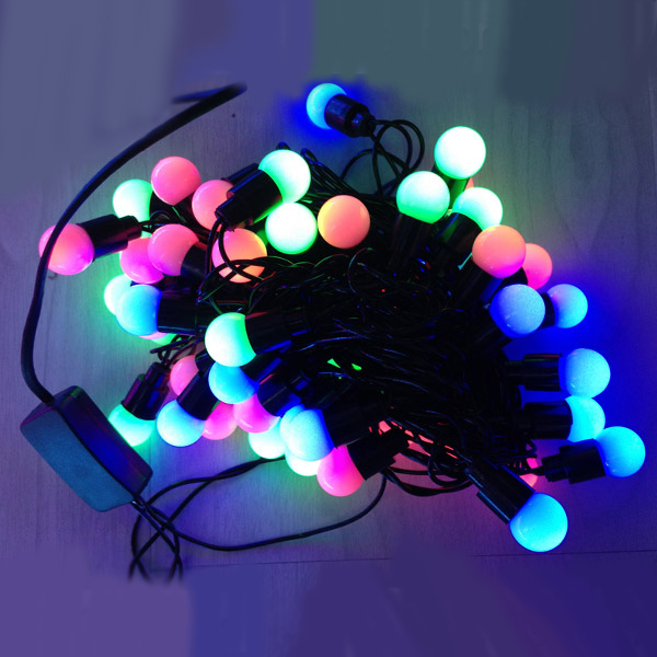 5m 50 led mini globe lights multicolor modeling string strip lights festival xmas wedding decoration holiday lights in led string from lights lighting on