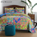 DeMissir Handmade Patchwork Cotton Quilts 3pcs Set Summer Quilted Bedspread King size Air Condition Comforter Quilting edredon