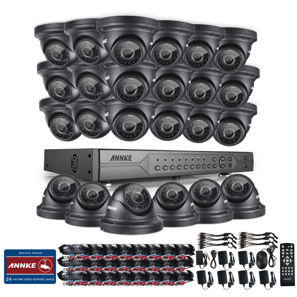 ANNKE 24CH 720P HDD AHD DVR Outdoor IR Day Night CCTV Security Camera System