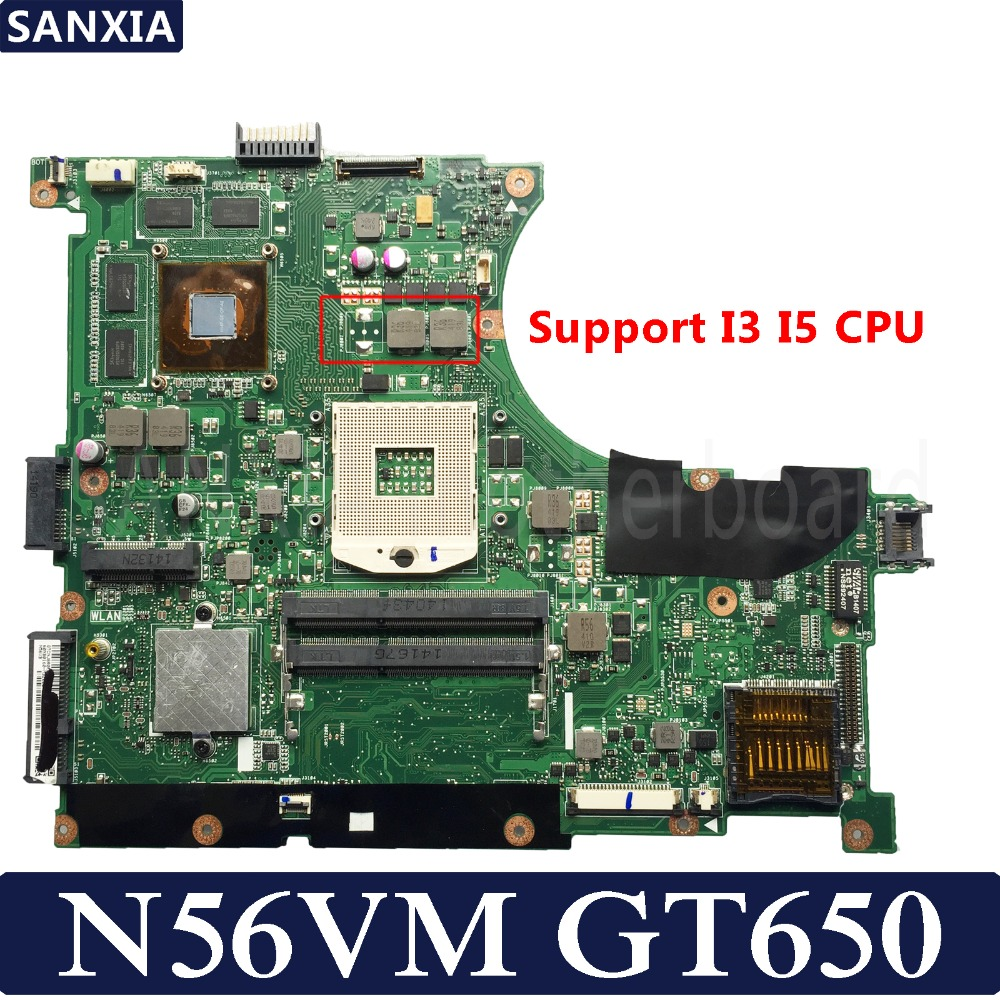 KEFU N56VM Laptop motherboard for ASUS N56VM N56VB N56VZ N56VJ N56V Test original mainboard GT650M