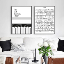 Nordic Minimalist Piano Score Canvas Painting Black White Wall Art Poster Graphic Pictures For Living Room Home Decor Unframed black score футболка