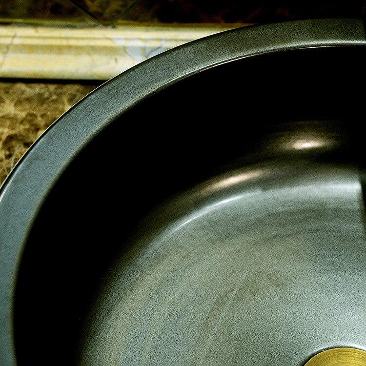 China Artistic Handmade Engraving Ceramic Lavobo Round Countertop round wash basin ceramic (2)