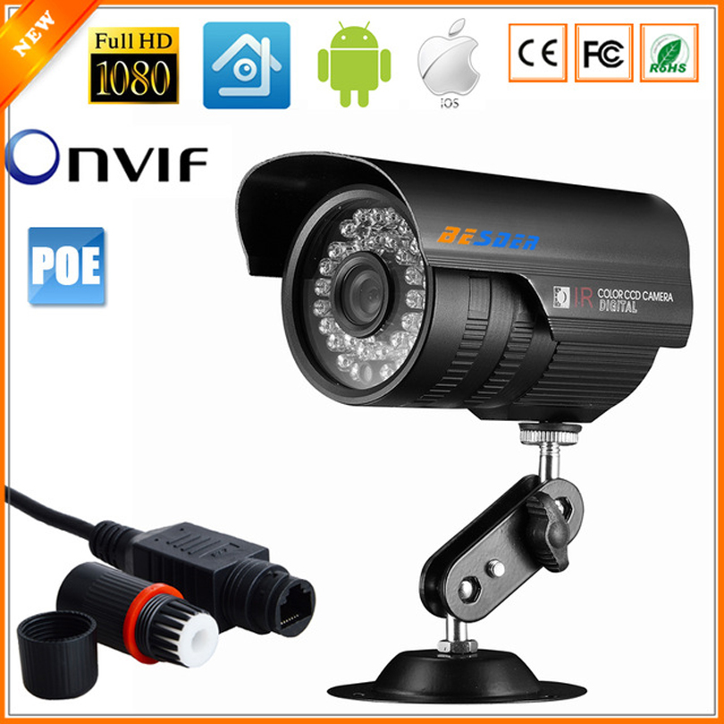 BESDER 48V IP Camera PoE Outdoor Full HD 1080P 2MP SONY IMX307 POE HI3516E 20fps Bullet