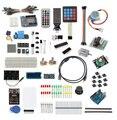 2015 nueva Actualización UNO R3 Starter Kit LCD1602 Breadboard Servomotor 49 Tipos de Componentes Del Sensor Relé de Arranque Kit