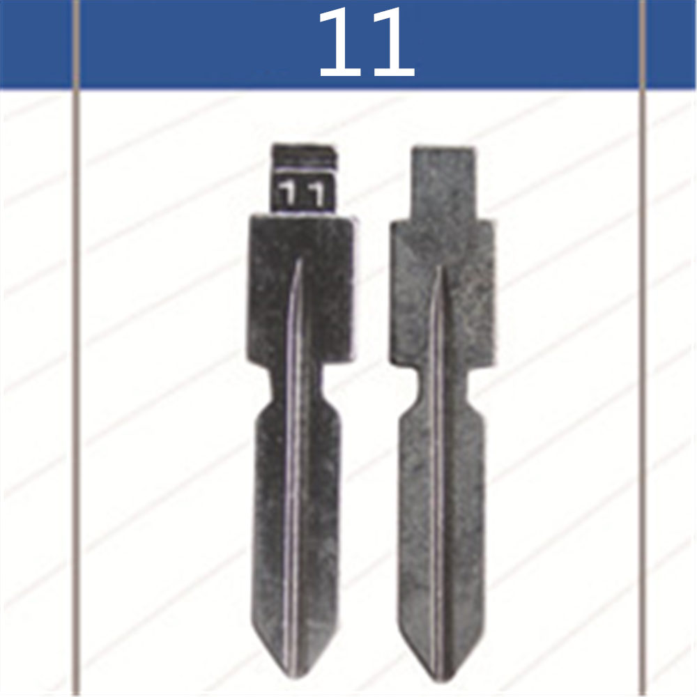 2 Pcs Uncut Replacement Car key blade for <font><b>MERCEDES</b></font> BENZ 126 <font><b>124</b></font> W140 S320 Key No.11 Car Key HU39 Blade image