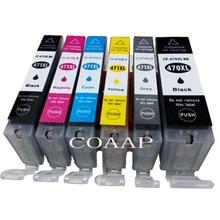 6 Pack PGI470 CLI471 ink cartridge for Compatible CANON PIXMA MG5740 MG8640 TS5040 TS6040 Printer
