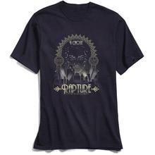 Mens T-Shirt Fiction Tshirt I Chose Rapture Design T Shirt All Cotton Round Collar Short Sleeve Printing Clothing Navy