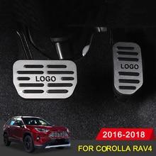 Auto Pedal for Toyota Corolla RAV4 2016 2017 2018 Car Accerator Gas Fuel Brake Cover Set Interior Decorative Accessories