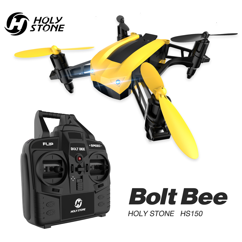 [EU USA Stock] Holy Stone HS150 Bolt Bee Racing Drone 50Km/h High Speed RTF 2.4GHz RC Quadcopter Wind Resistance With 2 Battery