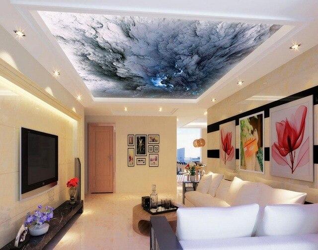 Tapety 3d Sufit Szary Sky Zenit Mural Fototapeta Niebo Sufitu Tapety