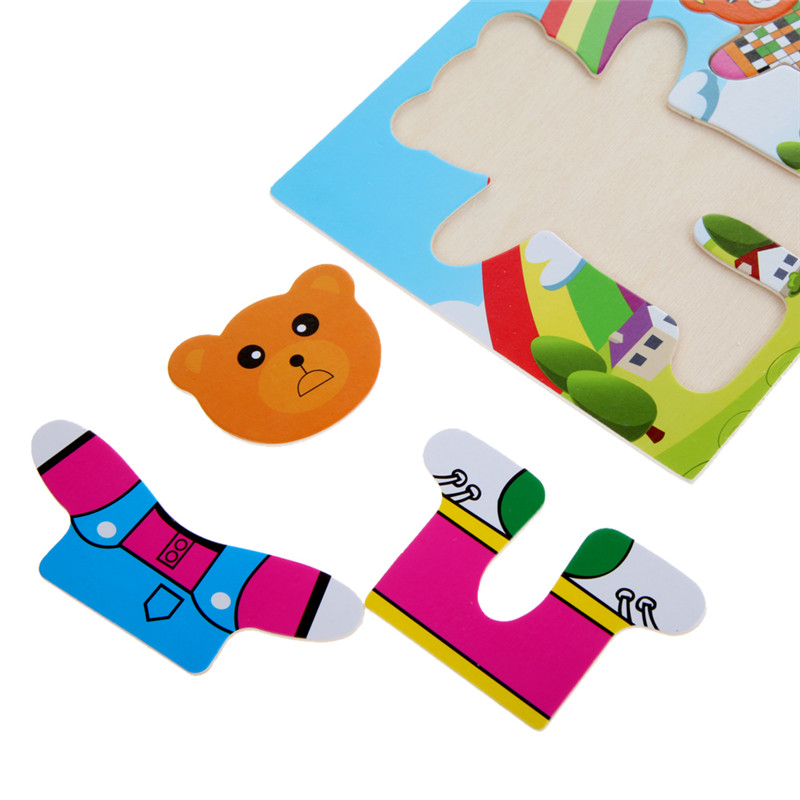 Wooden Puzzle Set for Kids | My Bamby Wooden Toddler Puzzle
