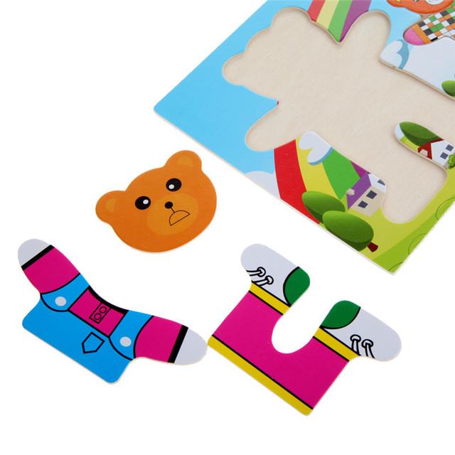 Kids Wooden Educational Puzzle Set