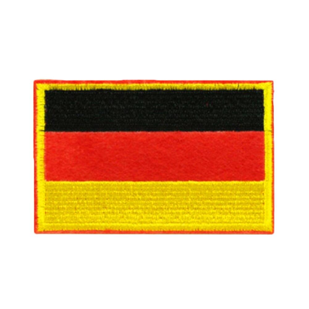 Нашивки с национальным флагом для одежды, нашивки с национальной эмблемой, нашивки с вышивкой, наклейки для одежды, нашивки с изображением страны, железные нашивки - Цвет: Germany