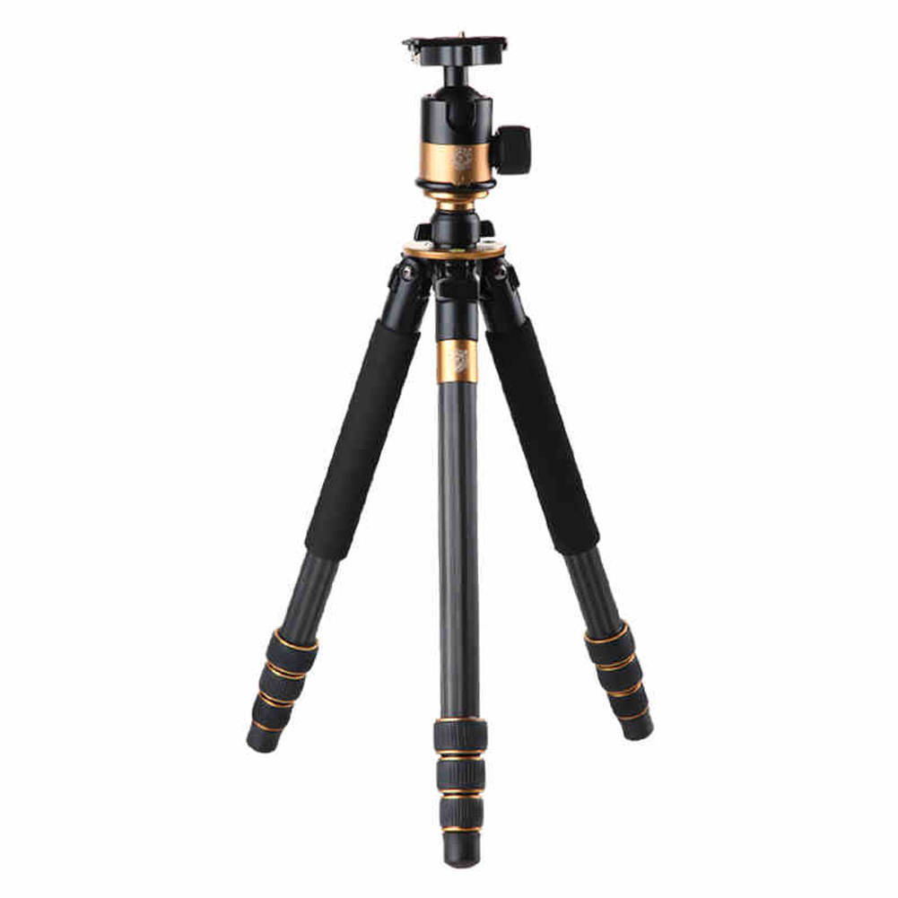 NI5L QZSD Q1000c Professional Carbon Fiber Tripod With 45mm Ball Head Stable Portable Photo Tripod Stand For DSLR SLR Video Came