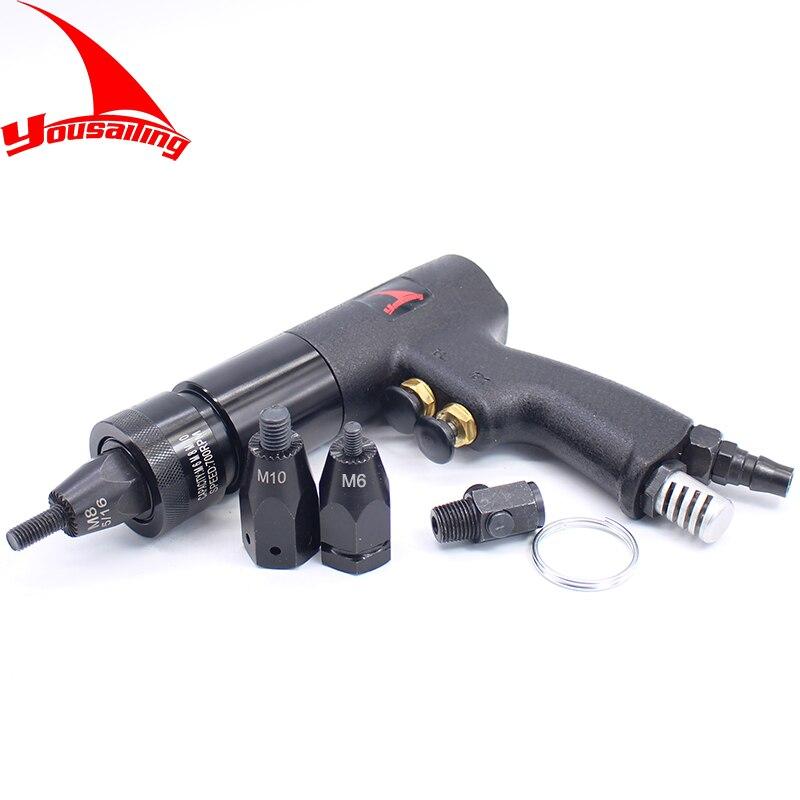 M6/M8/M10 Pneumatic Riveter Tool Clip up Air Riveters Self-Locking Pneumatic Pull Setter Air Rivet Nuts Gun Air Riveting Tool