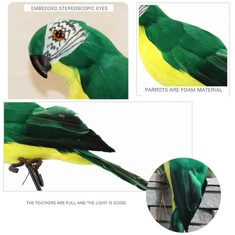 25//35cm Simulated Parrot Home Bird Decor Artificial Colorful Simulation Fashion