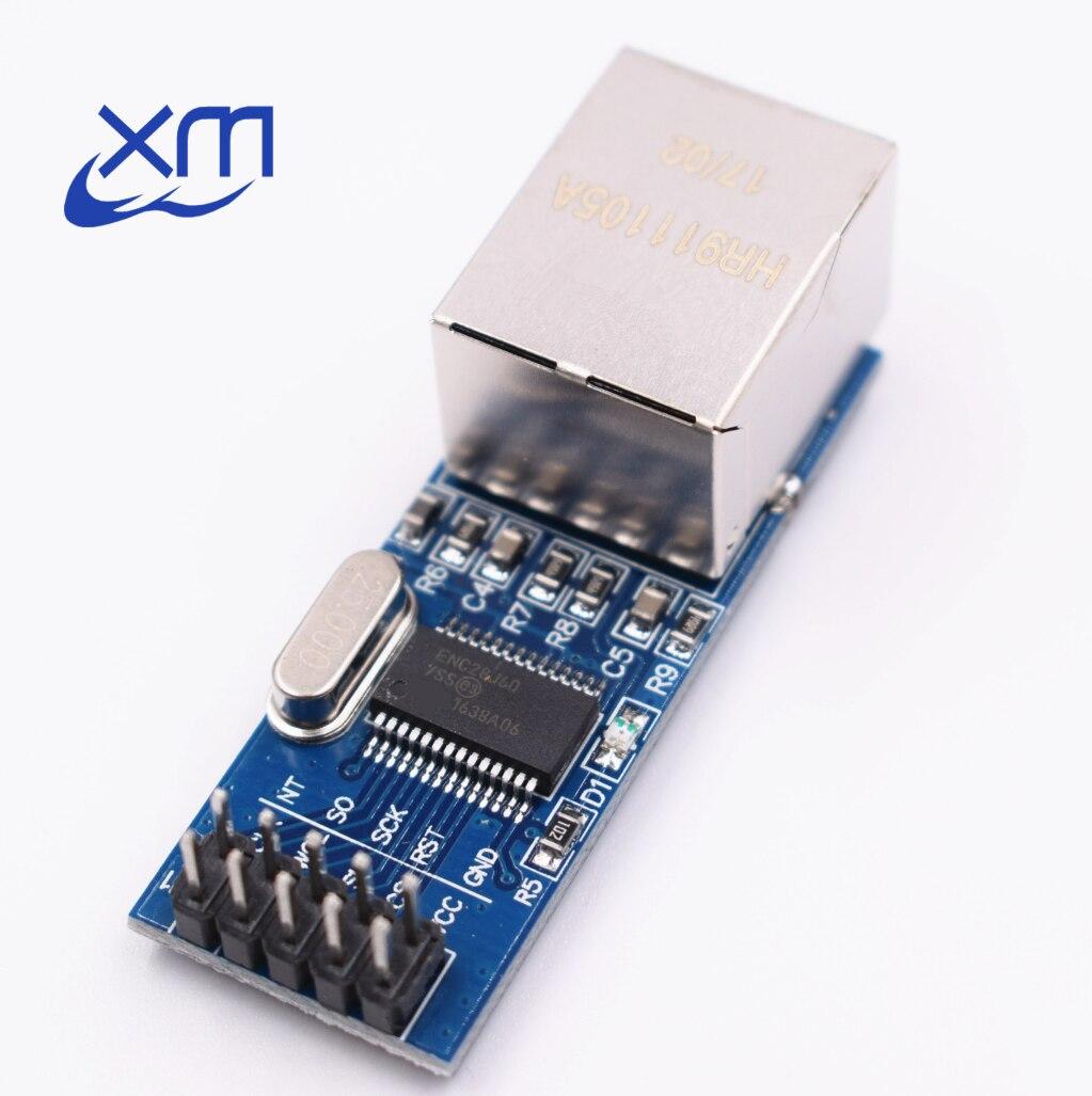 1 шт./лот мини ENC28J60 LAN Ethernet сетевой модуль 25 мГц Кристалл AVR 51 LPC 3.3 В B82